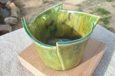 Items similar to patina raku bowl on Etsy Pottery Plates, Slab Pottery, Ceramic Pottery, Clay Projects For Kids, Kids Clay, Ceramic Bowls, Ceramic Art, Vases, Beginner Pottery
