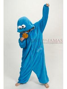 Sesame Streen Cookie Monster Onesie Kigurumi For Adult