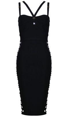 71e6947c4b3 Dream it Wear it - Cut Out Strappy Bandage Dress Black White