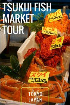 Tsukiji Fish Market Tour in Tokyo Japan
