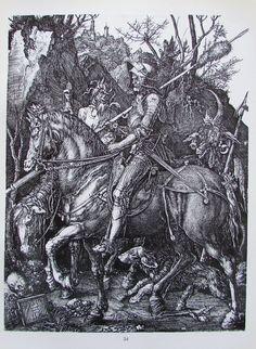 DÜRER RITTER TOD TEUFEL NÜRNBERGERIN 2 Reproduktionen Kunstdruck art print