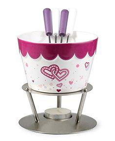 ghdonat.com Fondue Cookware Bold Hearts Artestia Chocolate Fondue ...