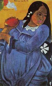Paul Gauguin Femme à la mangue,1892 « Vahiné no te vi »