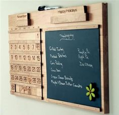 Maple Contemporary Perpetual Calendar - Craft-E-Family Kids Woodworking Projects, Green Woodworking, Unique Woodworking, Wood Projects, Woodworking Basics, Router Woodworking, Woodworking Magazine, Popular Woodworking, Wooden Calendar