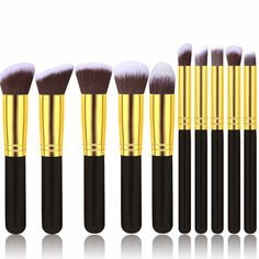Professionelle Weiche Kosmetik Pinsel Set frau Körperpflege-set 10 Stücke/kit make-up pinsel kabuki pinsel werkzeug