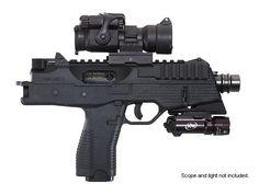 "DS Arms Black Tactical 9MM Pistol w/5"" Barrel/Picatinny Rail"