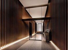 ザ・パークハウス西麻布レジデンスの賃貸情報 | 恵比寿不動産 Office Entrance, Modern Entrance, Entrance Design, Hall Design, Door Design, Apartment Entrance, Showroom Interior Design, Lobby Interior, Modern Interior Design