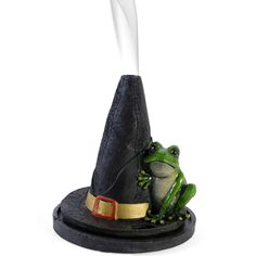 Wholesale Witches hat with frog cone burner - Something Different