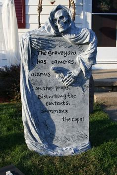 another great tombstone grave stone - Halloween Tombstone Decorations