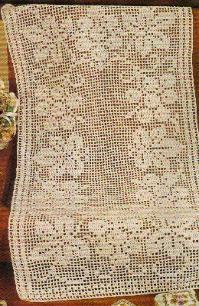 Free Filet Crochet Grapevine Runner Pattern