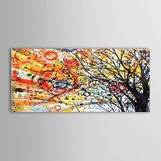 Handgeschilderde olieverf Bloemen The Wishing Bomen met gestrekte kader – EUR € 57.74