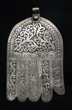 Morocco | Hand of Fatima from Azemmour | Silver | ca. early to mid 1900s