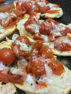 Pollo alla pizzaiola a modo mio: pomodorini di pachino, origano, caciocavallo