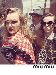 Maddison Brown and Hailey Gates in Miu Miu's fall 2015 campaign.