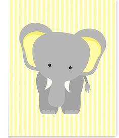 Elephant Nursery Art Zoo Baby Room Decor by SweetPeaNurseryArt