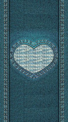 Denim Love Heart iPhone wallpaper background lockscreen Wallpaper For Your Phone, Locked Wallpaper, Cellphone Wallpaper, Screen Wallpaper, Mobile Wallpaper, Iphone Wallpaper, Denim Wallpaper, Flowery Wallpaper, Heart Wallpaper