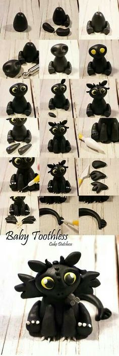 Baby Toothless by Cake Dutchess