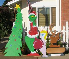 the grinch wood cutouts