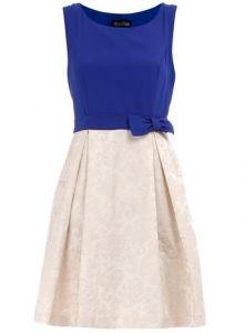 blue white dress