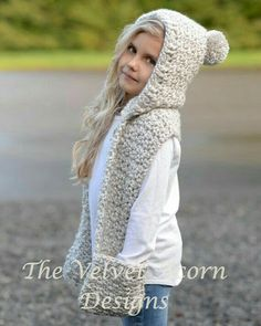 9c9cec42db075 Crochet PATTERN-The Summit Hooded Scarf month