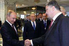 Summit on crisis in Ukraine. Just look at that sly old fox!