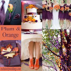 burnt orange wedding colors   The Plum and Orange palette below uses colors similar to Pantone's ...