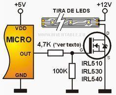 Como conectar un mosfet de potencia a un microcontrolador | Inventable