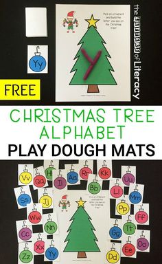 This holiday season, use engaging Christmas printable activities like our free Christmas Alphabet Play Dough Mats activity. Christmas Alphabet, Christmas Themes, Kids Christmas, Christmas Crafts, Christmas Printable Activities, Holiday Activities, Preschool Christmas Literacy Activities, Literacy Games, Free Activities