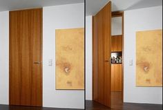 Flush with the wall, ceiling high with block jamb - B34 - modern - interior doors - miami - Bartels Exclusive Designer Doors