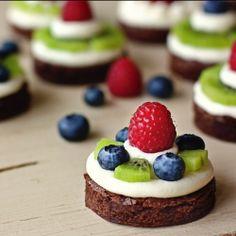 Mini Brownie Fruit Pies