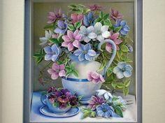 歐式立體 紙雕畫- Spring Flower