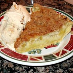 Sour Cream Rhubarb Pie...to utilize my mass quantities of rhubarb this summer