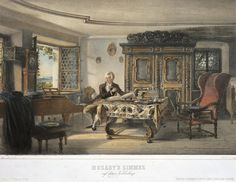 Mozart composing at a piano in his study in Kahlenberg near Vienna