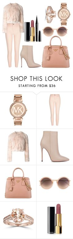 """""""Untitled #746"""" by pinkybunny on Polyvore featuring Michael Kors, River Island, RED Valentino, Akira Black Label, Prada, Linda Farrow, Chanel and Marc Jacobs"""