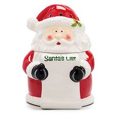 "NEW! SCENTSY SANTA'S LIST WARMER: Help Santa out during his peak season by keeping your wish list up to date! This cute and clever Warmer comes with a pen and attached ceramic ""pad"" you can write on directly. And if whims change, you can use a cotton swab dipped in rubbing alcohol to easily remove the writing and scrawl something new! 8"" tall, 20w. AVAILABLE 10/01/2016 - While Supplies Last."