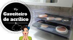 DIY Gaveteiro de acrilico