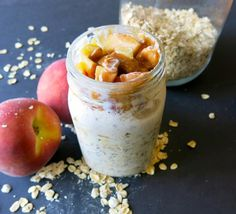 peach overnight oatmeal | almost getting it together
