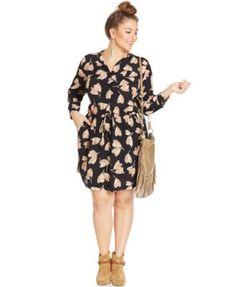 Lucky Brand Plus Size Floral-Print Shirtdress | macys.com