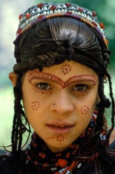 Pakistan, North-West Frontier Province (NWFP), Chitral region, portrait of a girl from the Kalash tribe