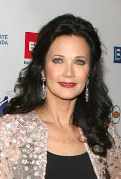 Lynda Carter. 60 years old and still absolutely gorgeous!... I've loved her since I saw her for the first time as Wonder Woman when I was 7 years old.