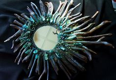Mermaid Mirror on the Wall Beach Driftwood Mirror by bluemoose on Etsy, $195.00
