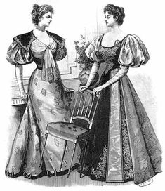 mousquetaire sleeves 1890 - puffed from shoulder to elbow squared off at elbow and tight through wrist