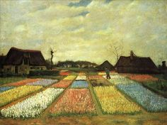 Поля тюльпанов (Цветочные клумбы Голландии)  :: Ван Гог, описание картины - Van Gogh (Ван Гог)