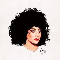 Lady Gaga Jazz Punk by Helen Green