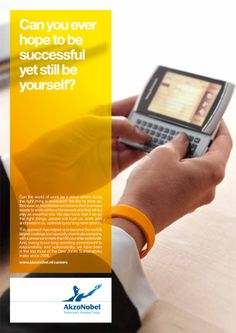 Can you ever hope to be successful yet still be yourself? Employer branding campaign by AkzoNobel.