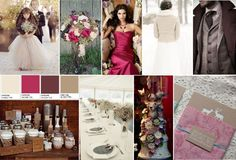 Rustic Winter Wedding mood board by Designed with Love in mind - images sourced from Pinterest