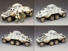 World War II German Winter BBG043 Polizei Armored Car - Made by King and Country Military Miniatures and Models. Factory made, hand assembled, painted and boxed in a padded decorative box. Excellent gift for the enthusiast.