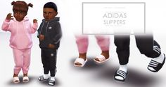 Onyx Sims: Slippers for Toddlers • Sims 4 Downloads