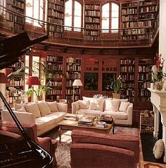 50 Super ideas for your home library: Architecture Art and Design.would love a home library like this, how I envy Belle and her library at the Beast's castle. Library Room, Dream Library, Future Library, Grand Library, Cozy Library, Modern Library, Photo Library, Beautiful Library, Beautiful Homes