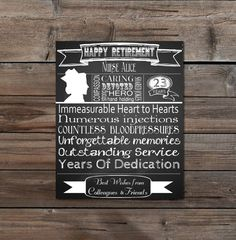 Retirement Gift for A Nurse Personalised by TheArtyApples on Etsy, £9.99